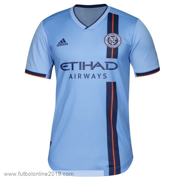 Casacas De Futbol Casa Camiseta New York City 2019 2020 Azul