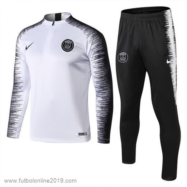 Casacas De Futbol Chandal Paris Saint Germain 2018 2019 Blanco Negro